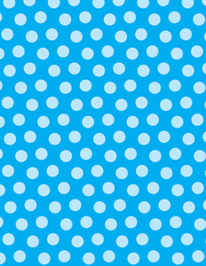 Polka dots blue background