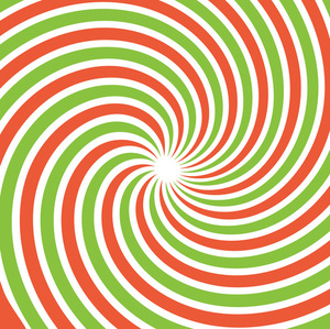 Red and green swirl