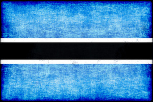 Botswana flag with grunge texture