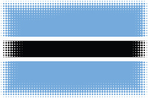 Flag of Botswana with halftone pattern