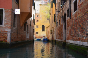 Venice canal up close