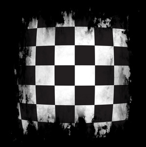 Checkered background with black frame