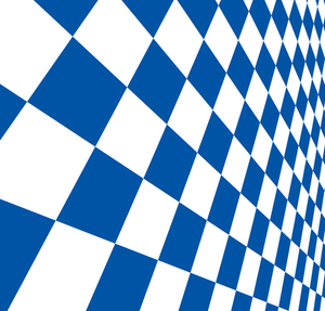 Checkered pattern blue and white