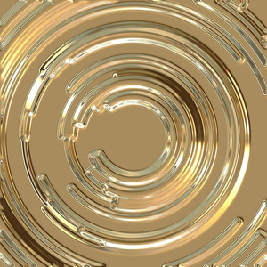Abstract circles metal effect