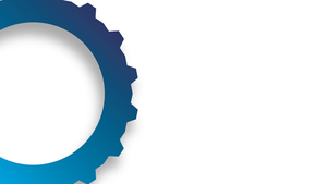 Blue cog white background