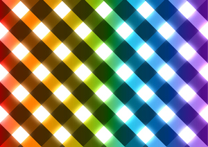 Glowing effects checkered pattern