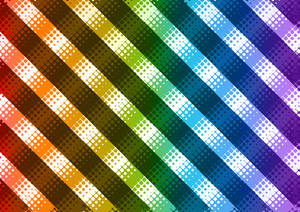 Striped pattern with halftone