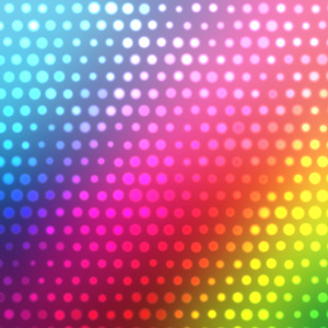 Halftone pattern rainbow background