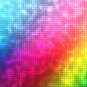 Dotted pattern on rainbow colors