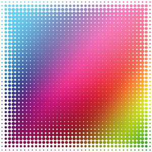 Rainbow background halftone pattern