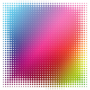 Halftone texture on colorful background