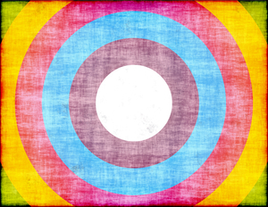 Colored circles grunge texture
