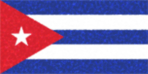Flag of Cuba with glowing circles