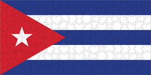 Flag of Cuba made of puzzles