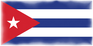 Cuban flag halftone effect