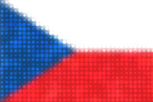 Czech flag with shiny dots