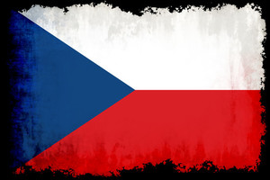 Czech flag with burned edges