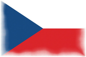 Czech flag halftone pattern