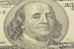 Benjamin Franklin on a dollar bill