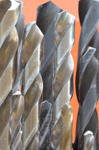 Drill bits close-up image