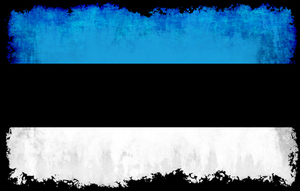 Estonian flag with grunge frame