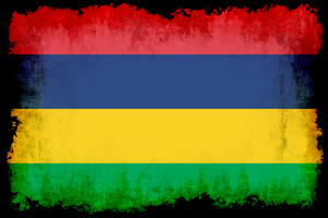 Mauritian flag in many colors