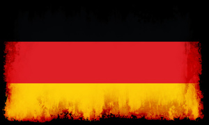 German flag with burned edges