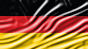 Flag of Germany with wavy effect