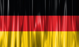 Wavy flag of Germany