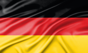 Wavy flag of Germany 2