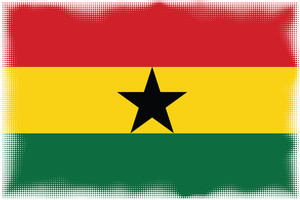 Flag of Ghana with halftone effect