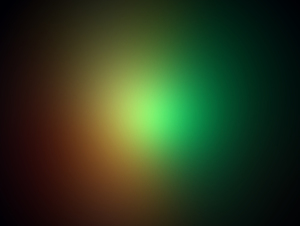 Glowing light on gradient background