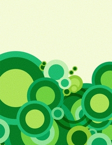 Green retro circles