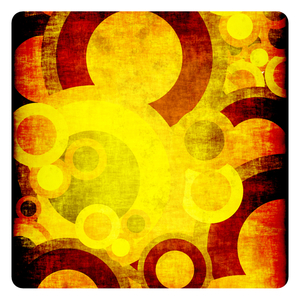 Colorful random abstract circles