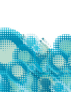 Halftone pattern blue background