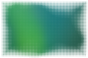 Green background halftone pattern