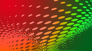 Colorful halftone shape