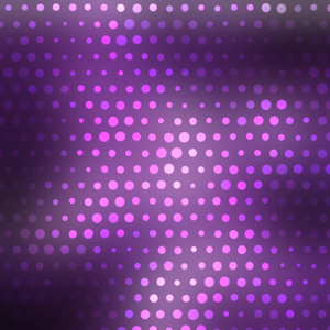 Glowing halftone dots