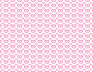 Repetitive pattern love theme