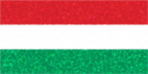 Flag of Hungary with glittering dots