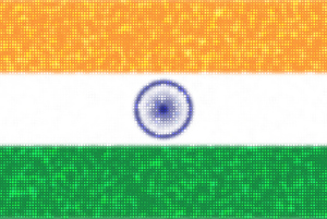 Indian flag with bright dots