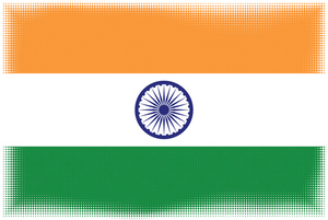 Flag of India halftone effect