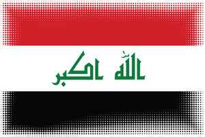 Flag of Iraq with halftone pattern