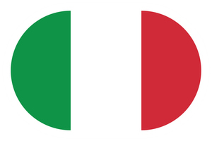 Flag of Italy oval shape