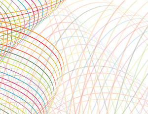Colorful lines transparent background