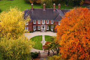 Mansion In Autumn Leaves