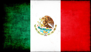Mexican flag with texture overlay