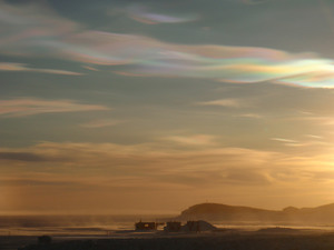 Nacreous Clouds At Hut Point