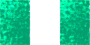 Nigerian flag in glittery pattern