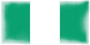 Nigerian flag in halftone style
